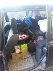 Ich kam nur mit einem Rucksack in NZ an.. Und der Kofferraum ist auch randvoll...