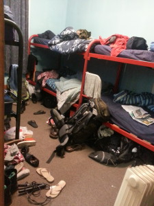 Living in a hostel