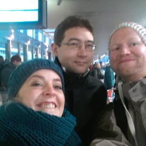 Departing from Hanover, 29.12.2014 Beccy, Chris and me