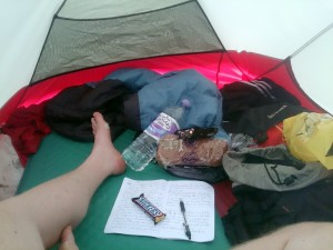 In my little tent